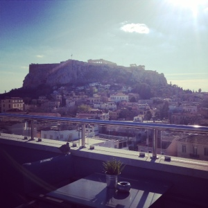 view from roof garden