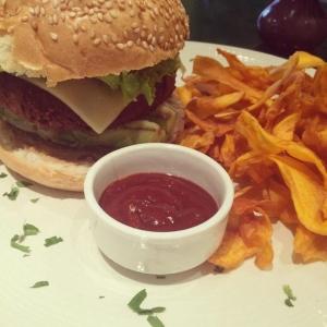 hamburger di avocado