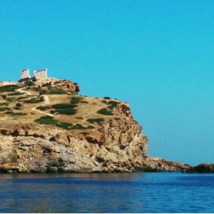 sounio from the boat
